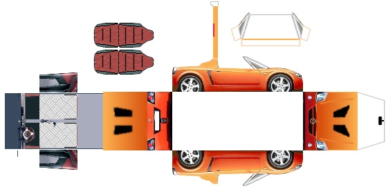 how to make a paper lamborghini car